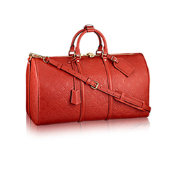 红色斜挎包
